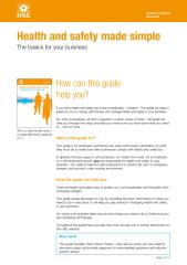 Health and Safety Executive (HSE) - Health and safety made simple The basics for your business.pdf