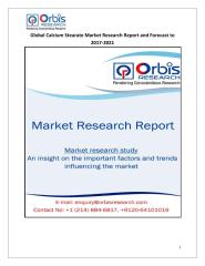 Global Calcium Stearate Market Research Report and Forecast to 2017-2021.pdf
