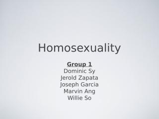 4th Qtr Creative Synthesis HOMOSEXUALITY.ppt